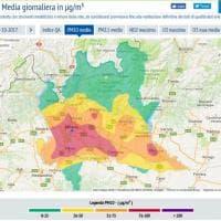 Smog a Milano e in Lombardia, sul sito dell'Arpa la mappa dell'emergenza
