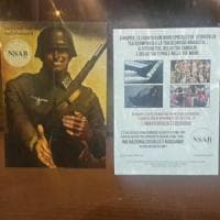 Adesivi filonazisti a Milano al presidio antidegrado con parata di Lealtà e azione. Anpi: