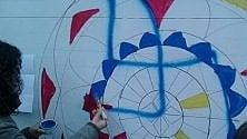 La svastica in mandala, la risposta al graffito nazi