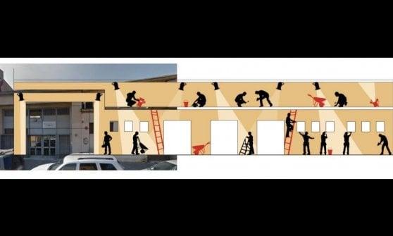 Teatro alla Scala, street art per la sala prove in periferia: il maxi murale votato dai residenti