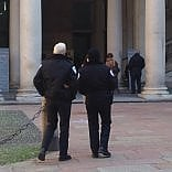 """Sicurezza, guardie armate  all'Accademia di Brera  Gli studenti mugugnano:  """"E' il Grande fratello"""""""