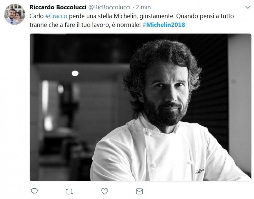 Chef Cracco perde una stella Michelin, le reazioni sui social: ''Meno tv, più cucina''