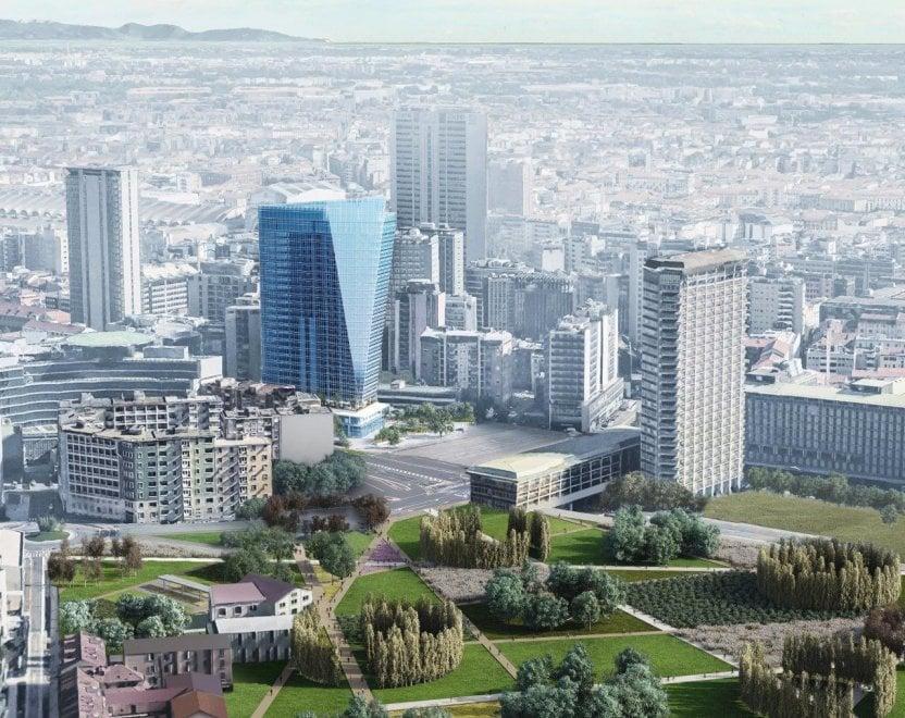 Milano l 39 eco grattacielo degli emiri che sorger a porta - Uffici gtt porta nuova ...