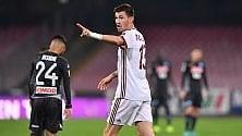 Il Milan a Napoli, sfida clou -  La diretta