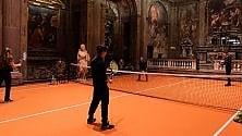 Tennis in chiesa:  l'installazione d'arte  è aperta a tutti