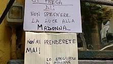 Spegnitore di Madonne  contro donne pie:  sfida in via Trivulzio