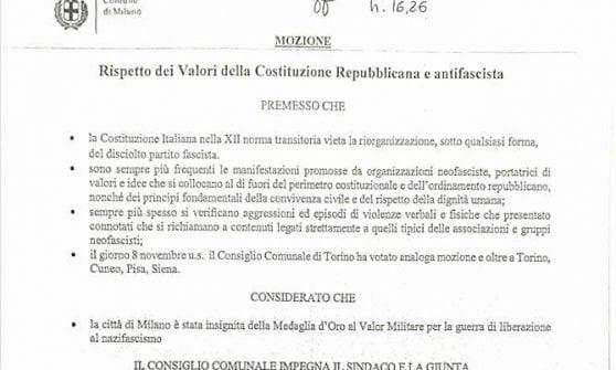"""Neofascismo, Milano dice basta: """"Mai più raduni dell'ultradestra negli spazi pubblici"""""""