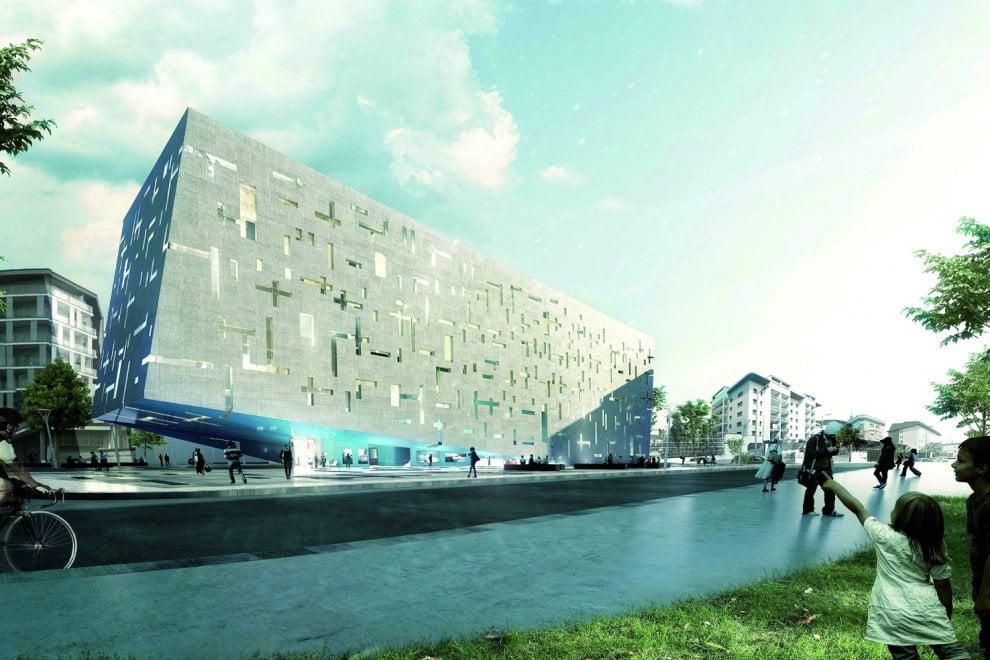 Milano, un'arca galleggiante in piazza: è la nuova sede dell'azienda che gestisce l'acquedotto