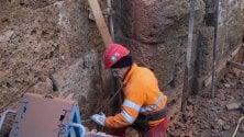 M4, il muro romano  spunta negli scavi