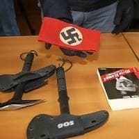 Varese, sigilli alla sede dei neonazisti di Do.ra: sequestrate asce, pugnali