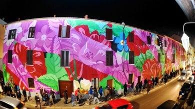"""Foto  Festa e mobilitazione all'Ortica  dopo l'oltraggiosa scritta """"Duce a noi!"""""""