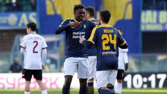 Verona-Milan 3-0, i rossoneri affondano al Bentegodi