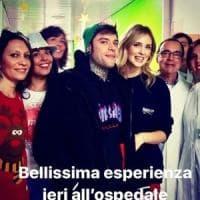Fedez e Chiara Ferragni, la festa di Natale è con i piccoli pazienti dell'ospedale di Pavia