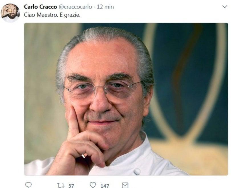 """Gualtiero Marchesi, il cordoglio per la morte sui social: """"Scompare un maestro della cucina"""""""