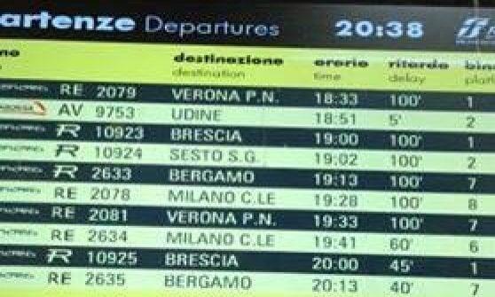 Pendolari, guasto a uno scambio alla stazione di Pioltello: ritardi fino a 2 ore sulla Milano-Brescia