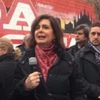 Milano, Boldrini davanti al murale dei partigiani: