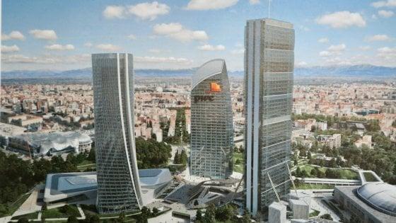 """City life ultimo atto, al via la costruzione del """"curvo"""": il terzo grattacielo è firmato Libeskind"""
