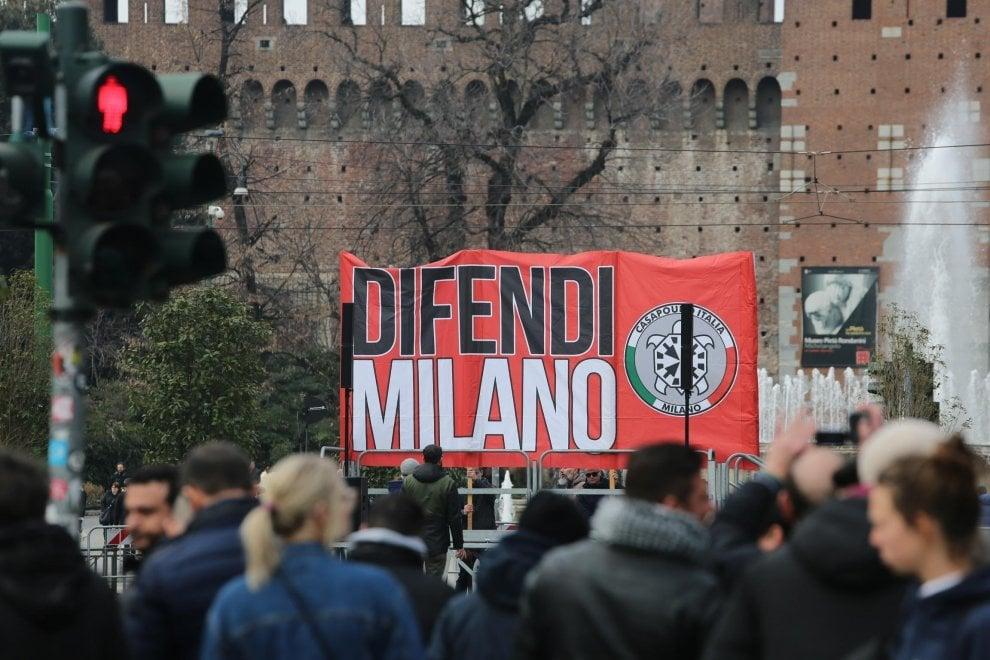 CasaPound a Milano, Di Stefano: ''Il fascismo è la nostra storia''