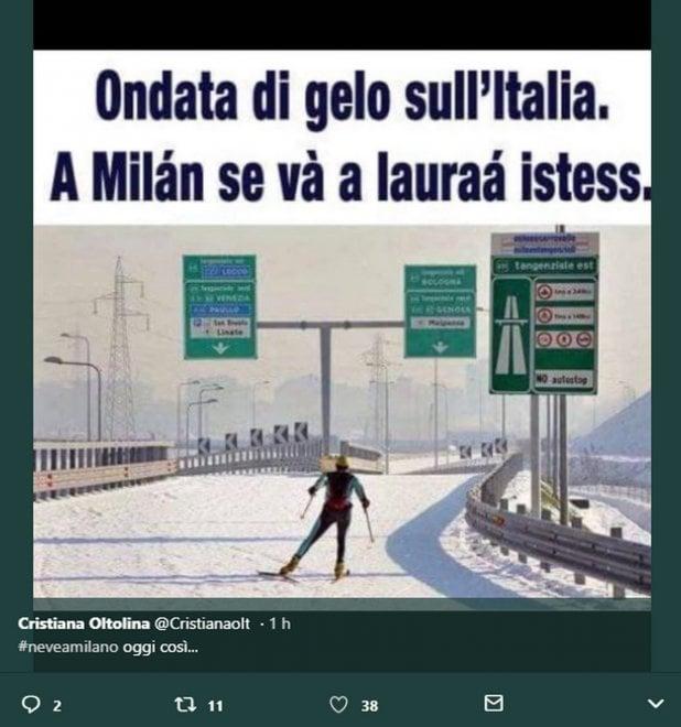 """Maltempo, su Twitter il milanese non resiste: """"Cari romani, noi a lavorare ci andiamo lo stesso"""""""