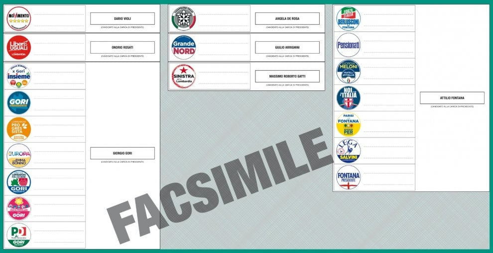 Elezioni Lombardia 2018, quel che c'è da sapere prima di entrare nella cabina: la scheda elettorale