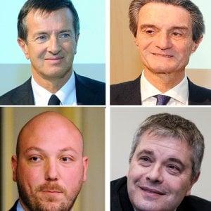 Elezioni, programmi e stoccate: videosfida a quattro (Fontana, Gori, Rosati e Violi) nei forum di Repubblica