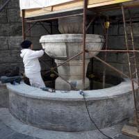 Milano, rinascono le fontane del Tempio della Vittoria: in piazza Sant'Ambrogio restauro finito