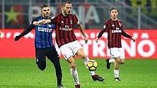Milan-Inter, scelta la data del recupero: si giocherà mercoledì 4 aprile