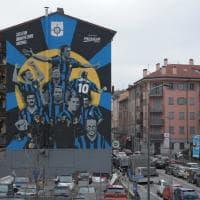 L'Inter festeggia i suoi eroi : all'Isola spunta InterWall con i campionissimi di sempre