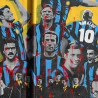 Milano, vandali imbrattano il murale per i 110 anni dell'Inter. Il Comune: