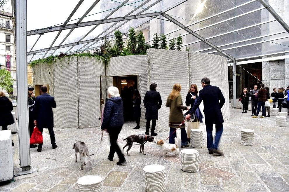 Milano, per il Fuorisalone la prima casa in cemento stampata in 3D
