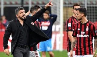 Milan, Gattuso: ''Pochi gol ma giochiamo meglio. Calhanoglu? Lo vedo alla Pirlo''