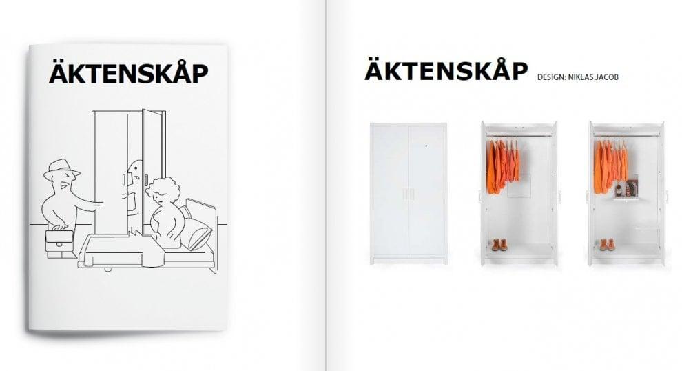 Fuorisalone, l'armadio per l'amante e il tavolo per chi è a dieta: il catalogo Idea fa il verso a Ikea