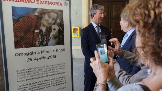 25 aprile a Milano, commemorazioni al via con il ricordo di Mireille Knoll vittima dell'antisemitismo a Parigi