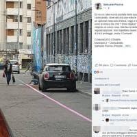 Milano, strisce blu dipinte di rosa davanti al Leoncavallo: la denuncia su Facebook