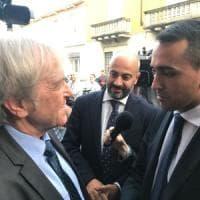 """Monza, Di Maio dall'imprenditore fallito: """"Messaggio per l'Ue è chi soffre viene prima"""""""
