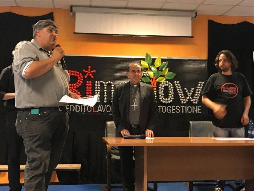 Rimaflow: i lavoratori accolgono l'arcivescovo
