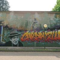 La dedica degli studenti a Cardarelli: il murale del poeta sulla parete della scuola