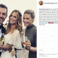Il matrimonio di Filippa Lagerback e Daniele Bossari: gli scatti social degli invitati famosi, da Hunziker a Miccio