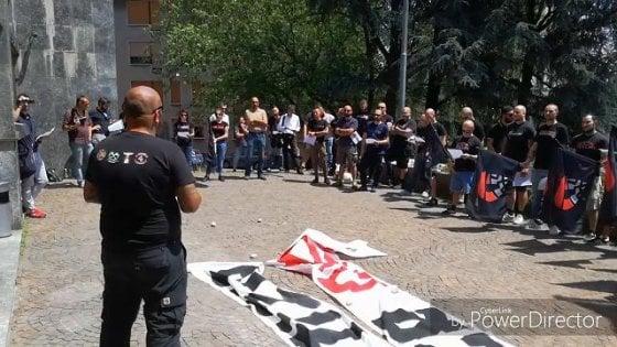 Busto Arsizio, i neonazisti Do.Ra protestano contro i magistrati ''inquisitori'' che li indagano