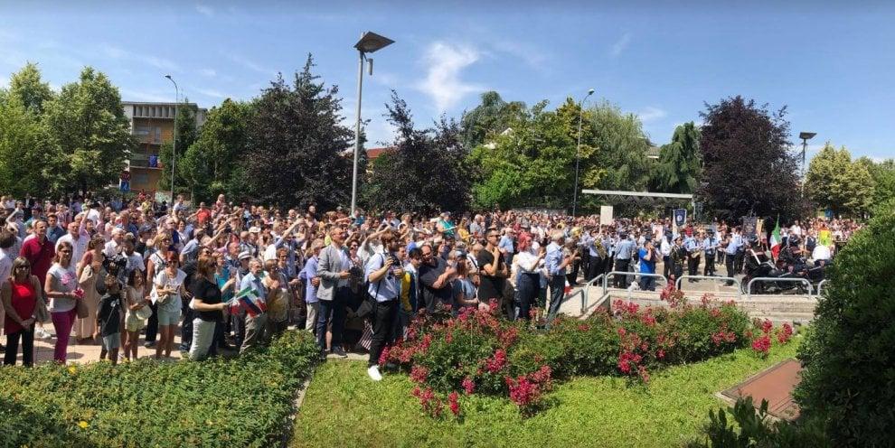 Verano Brianza accoglie l'uomo delle stelle: in migliaia per salutare Paolo Nespoli