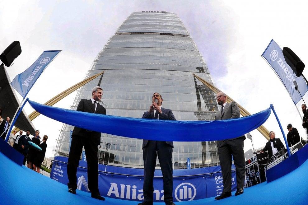 CityLife, inaugurata la torre Allianz: ci lavoreranno 2.800 persone