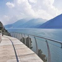 Curve a strapiombo sul lago di Garda: ecco le prime fotografie della ciclabile dei sogni