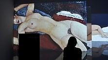 Modigliani a Milano, i capolavori proiettati sulle pareti