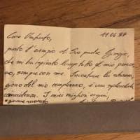 """""""Caro Ambrosoli porto l'esempio di suo padre Giorgio"""", il biglietto al ristorante in..."""