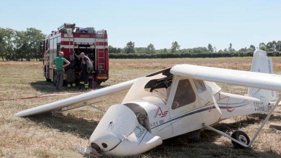 Due incidenti in poche ore nello stesso campo volo: quattro feriti nel Milanese