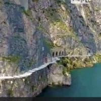 Pedalare sospesi sul Garda,  aperto il primo tratto di 2 Km della ciclopista