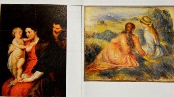 Monza, recuperati due dipinti di Rubens e Renoir rubati nel