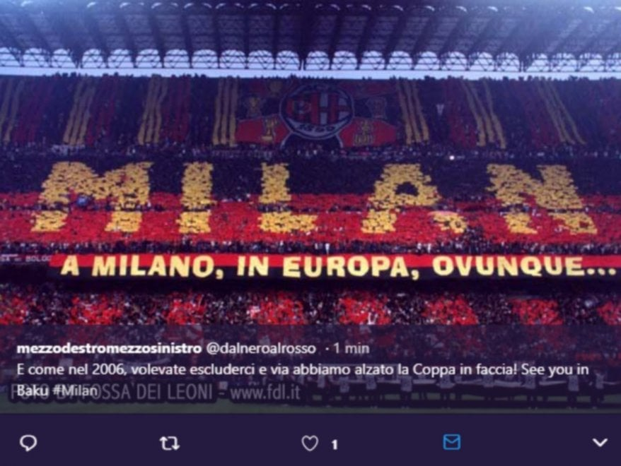 Milan torna in Europa League: la gioia dei tifosi su Twitter