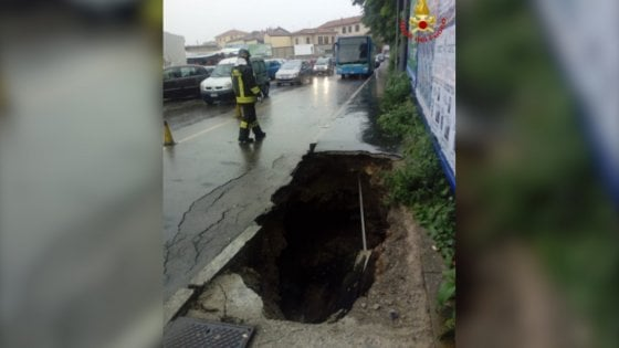 Piogge torrenziali a Varese: l