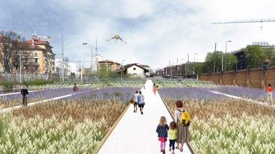 Centocinquanta specie di fiori, ortaggi e germogli: a Milano lo scalo di Porta Genova diventa un campo